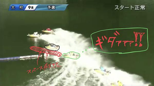 ③:6号艇中村の差し!!