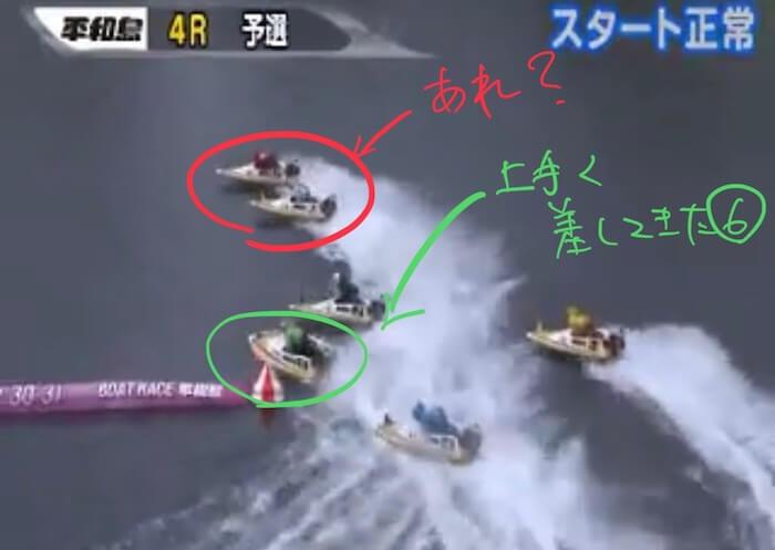 ボートレース平和島の必勝法を検証③:レースの結果はいかに「展開②:上手く差しも入り」