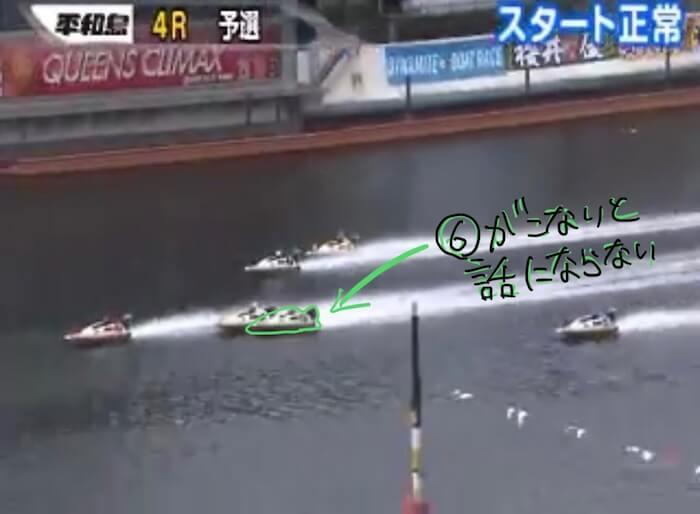 ボートレース平和島の必勝法を検証③:レースの結果はいかに「展開③:おいーー!!という展開に」