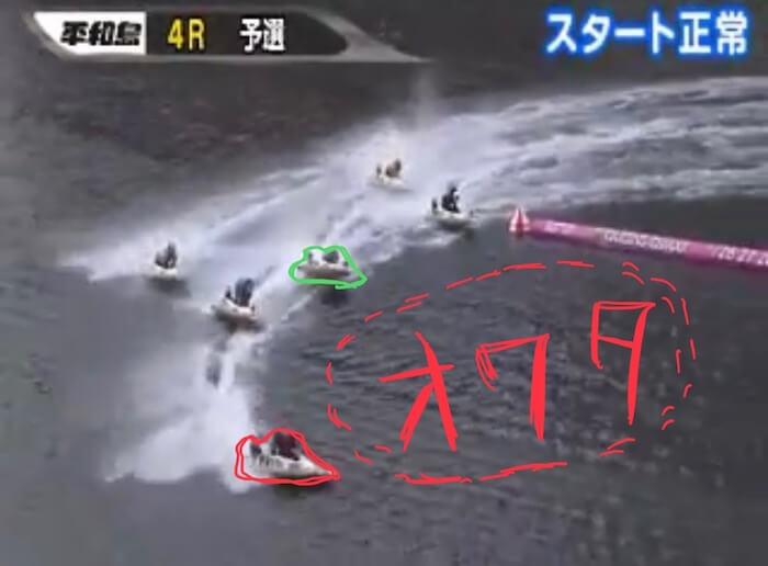 ボートレース平和島の必勝法を検証④:レースの結果はいかに「展開④:2Mで決着」