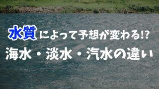 【ボートレース】海水と淡水の違い、レースへの影響は?【汽水も解説】