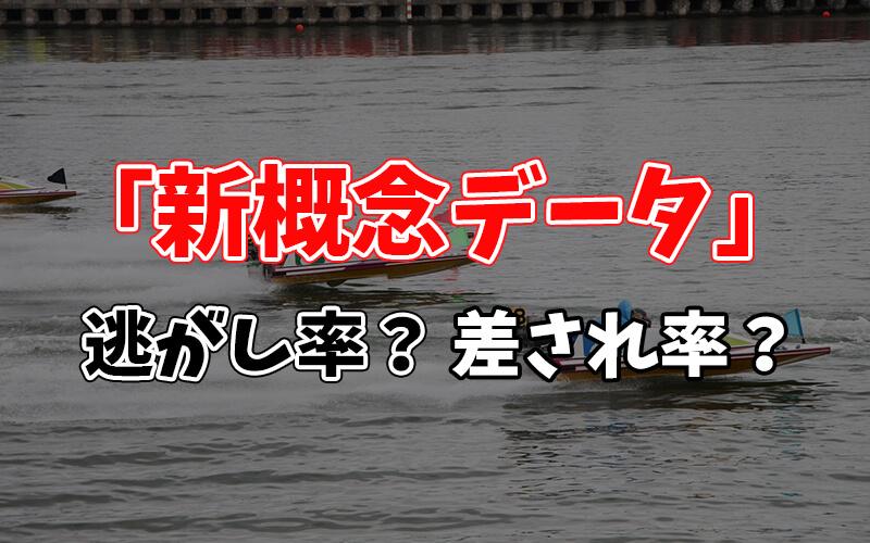 ボートレースの新概念データとは?【逃がし率 / 差され率 / まくられ率】